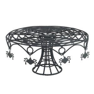 Totally Ghoul Spider Web Wire Cake Stand